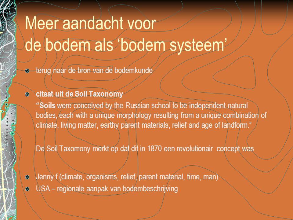 Meer aandacht voor de bodem als 'bodem systeem'