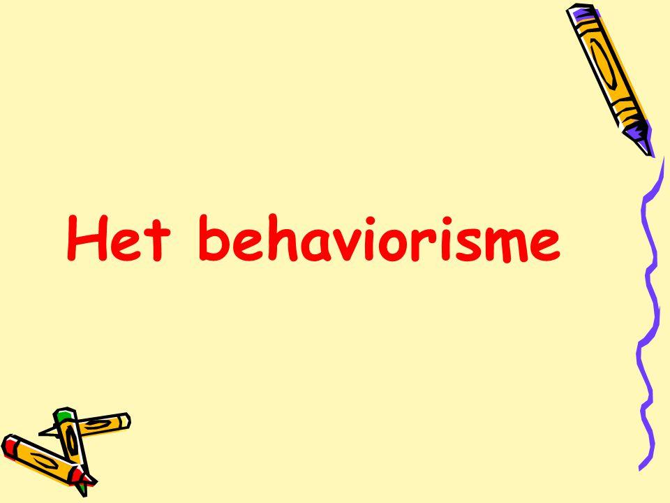 Het behaviorisme