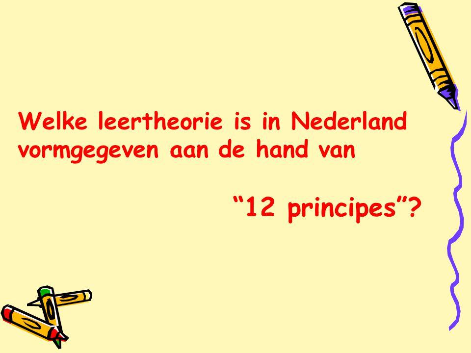 Welke leertheorie is in Nederland vormgegeven aan de hand van