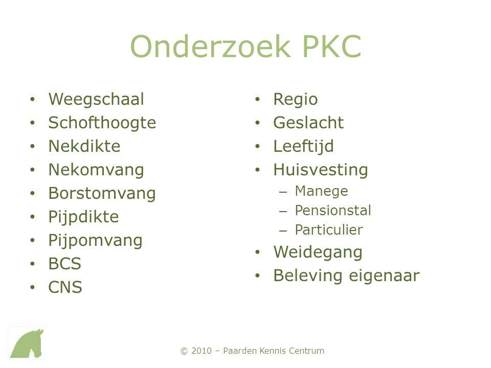 Onderzoek PKC Weegschaal Schofthoogte Nekdikte Nekomvang Borstomvang