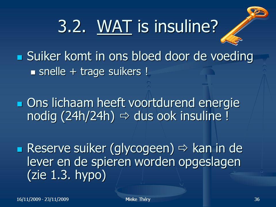 3.2. WAT is insuline Suiker komt in ons bloed door de voeding