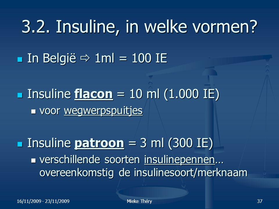 3.2. Insuline, in welke vormen