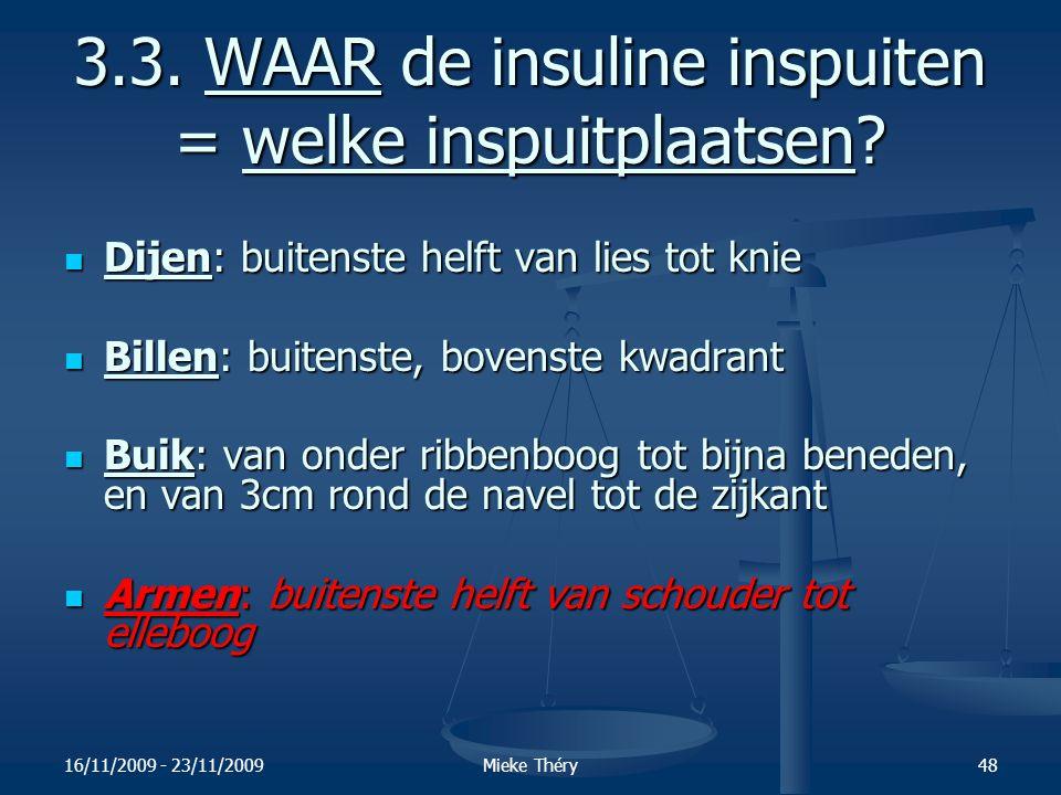 3.3. WAAR de insuline inspuiten = welke inspuitplaatsen
