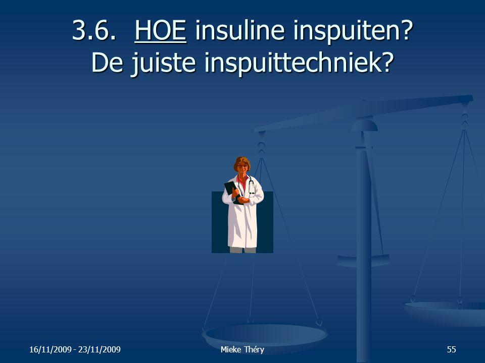 3.6. HOE insuline inspuiten De juiste inspuittechniek