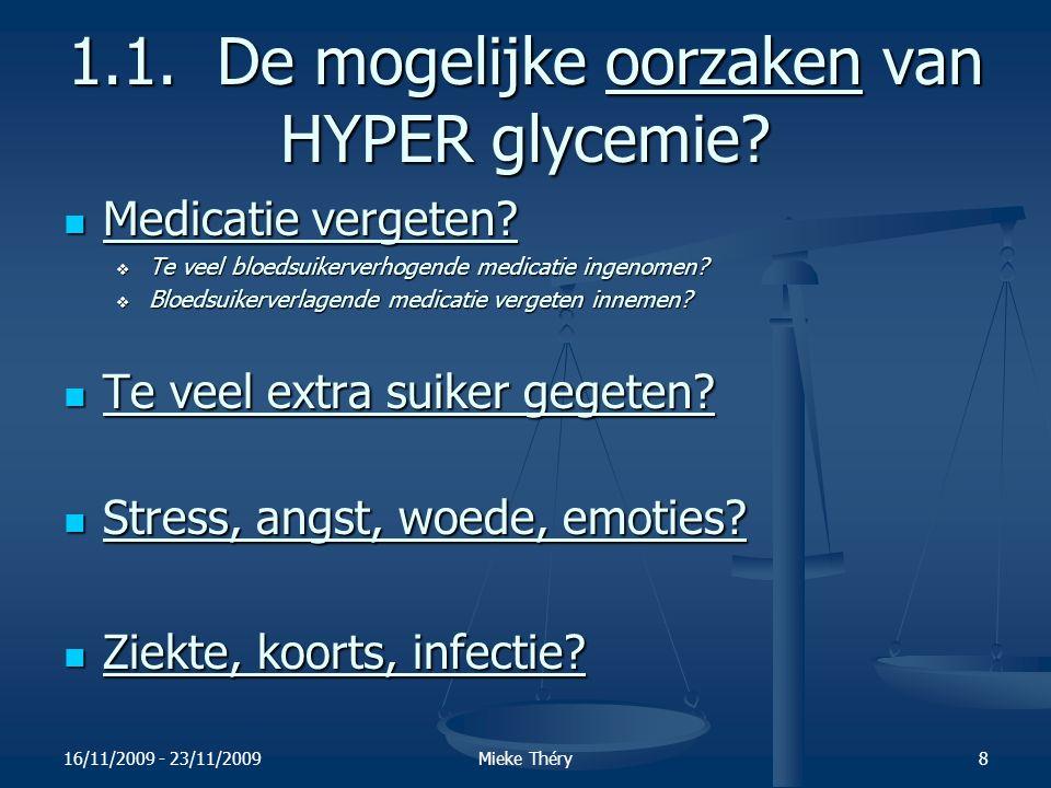 1.1. De mogelijke oorzaken van HYPER glycemie