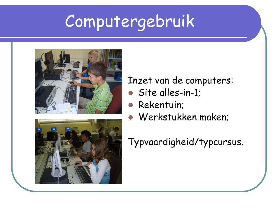 Computergebruik Inzet van de computers: Site alles-in-1; Rekentuin;