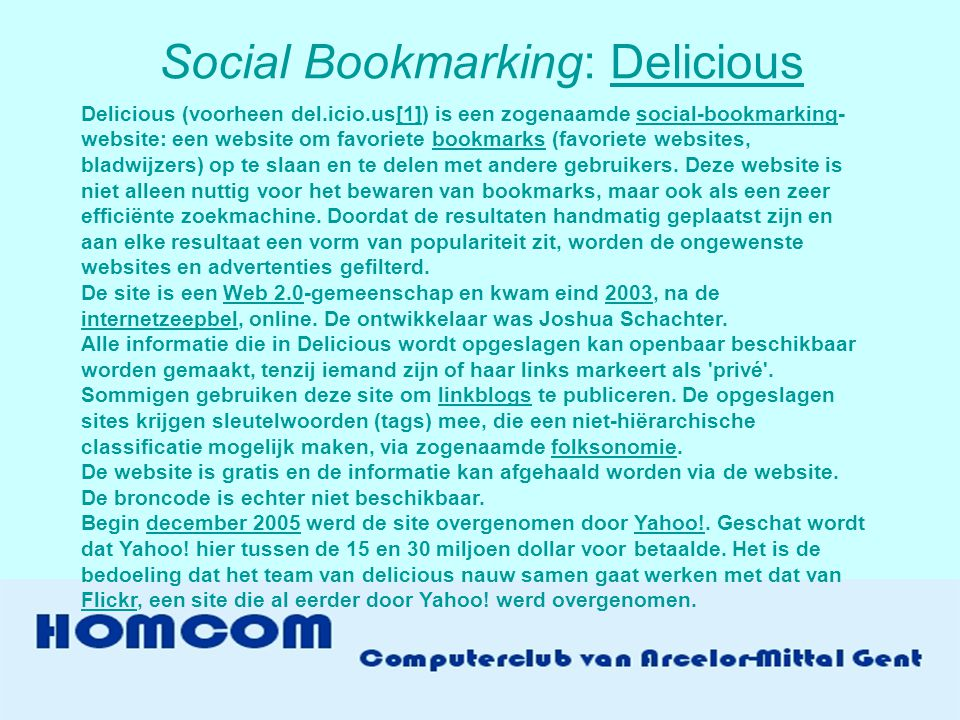 Social Bookmarking: Delicious