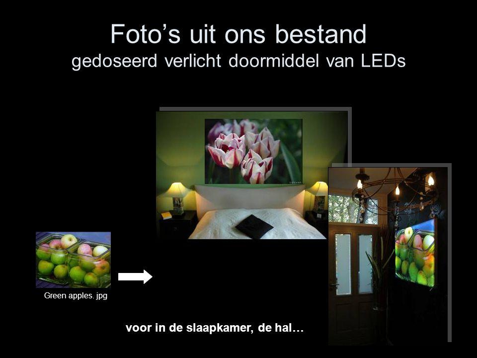Foto's uit ons bestand gedoseerd verlicht doormiddel van LEDs