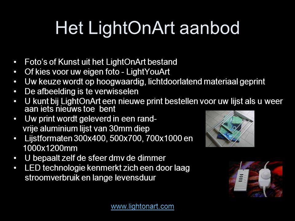 Het LightOnArt aanbod Foto's of Kunst uit het LightOnArt bestand