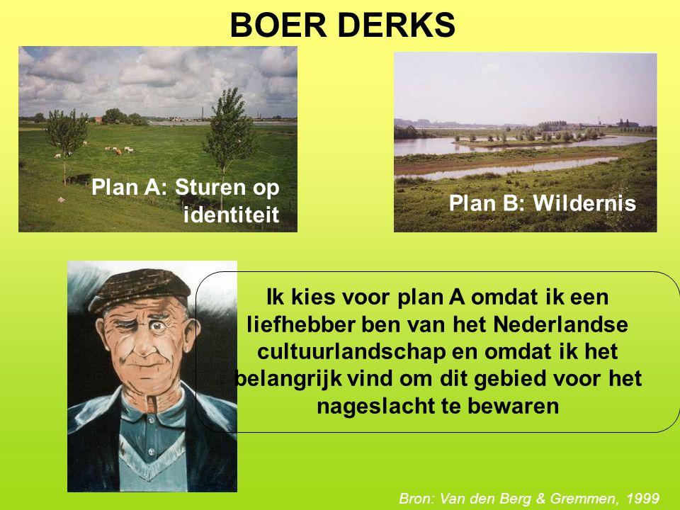 BOER DERKS Plan A: Sturen op identiteit Plan B: Wildernis