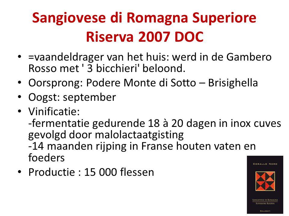 Sangiovese di Romagna Superiore Riserva 2007 DOC
