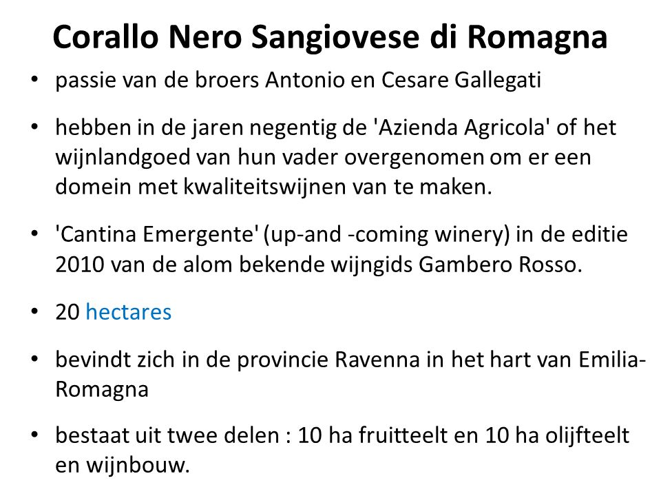 Corallo Nero Sangiovese di Romagna
