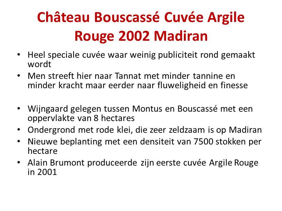 Château Bouscassé Cuvée Argile Rouge 2002 Madiran