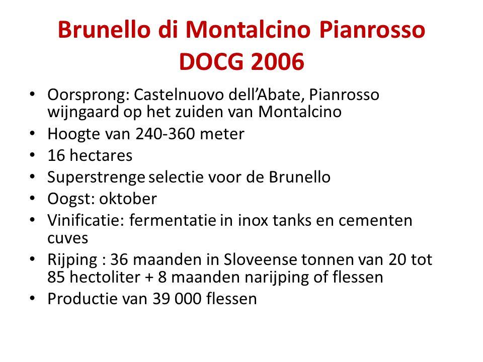 Brunello di Montalcino Pianrosso DOCG 2006