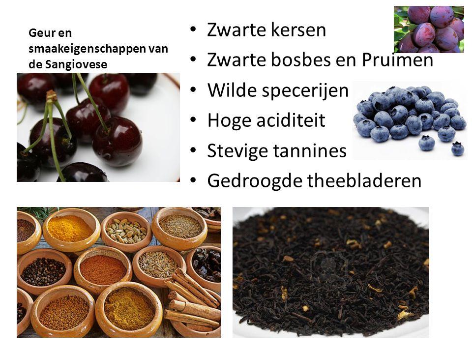 Geur en smaakeigenschappen van de Sangiovese