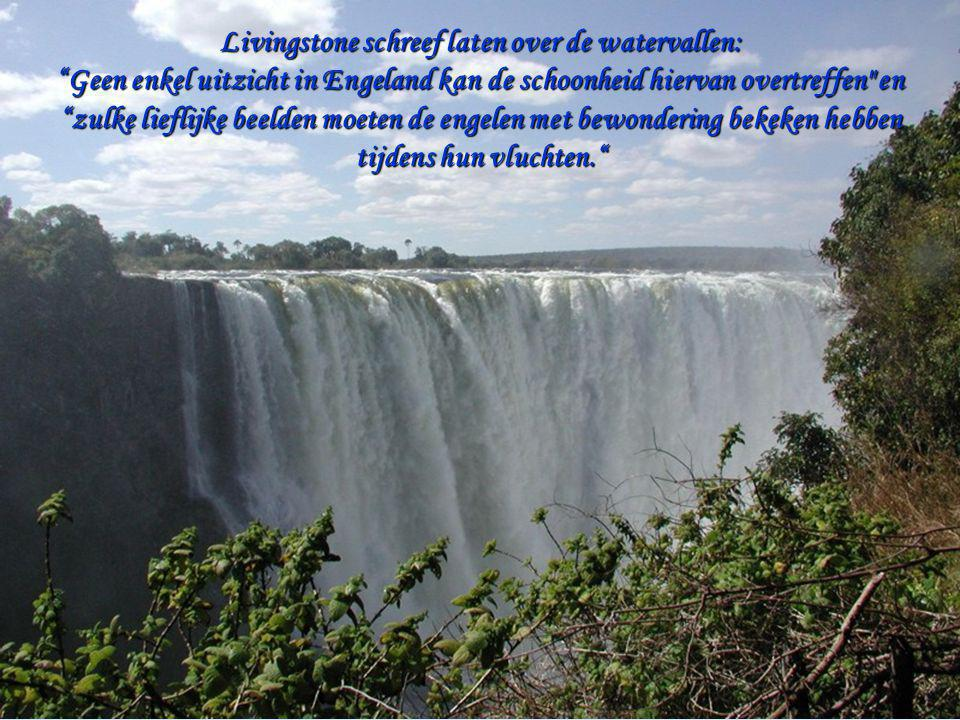 Livingstone schreef laten over de watervallen: