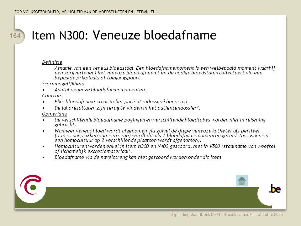Item N300: Veneuze bloedafname