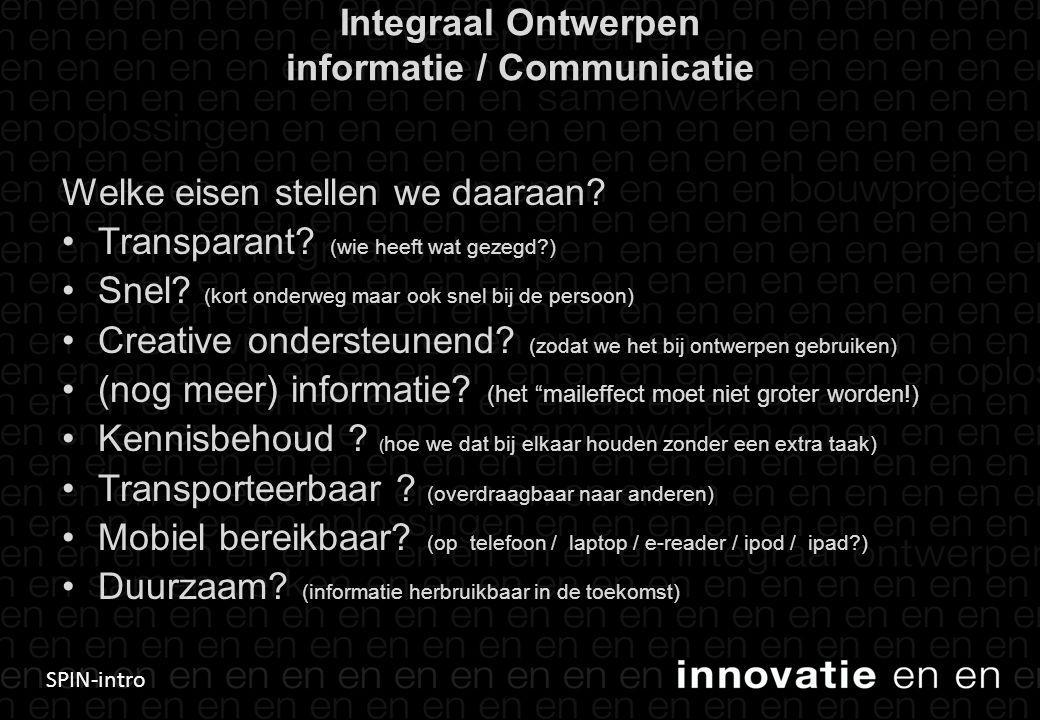 Integraal Ontwerpen informatie / Communicatie