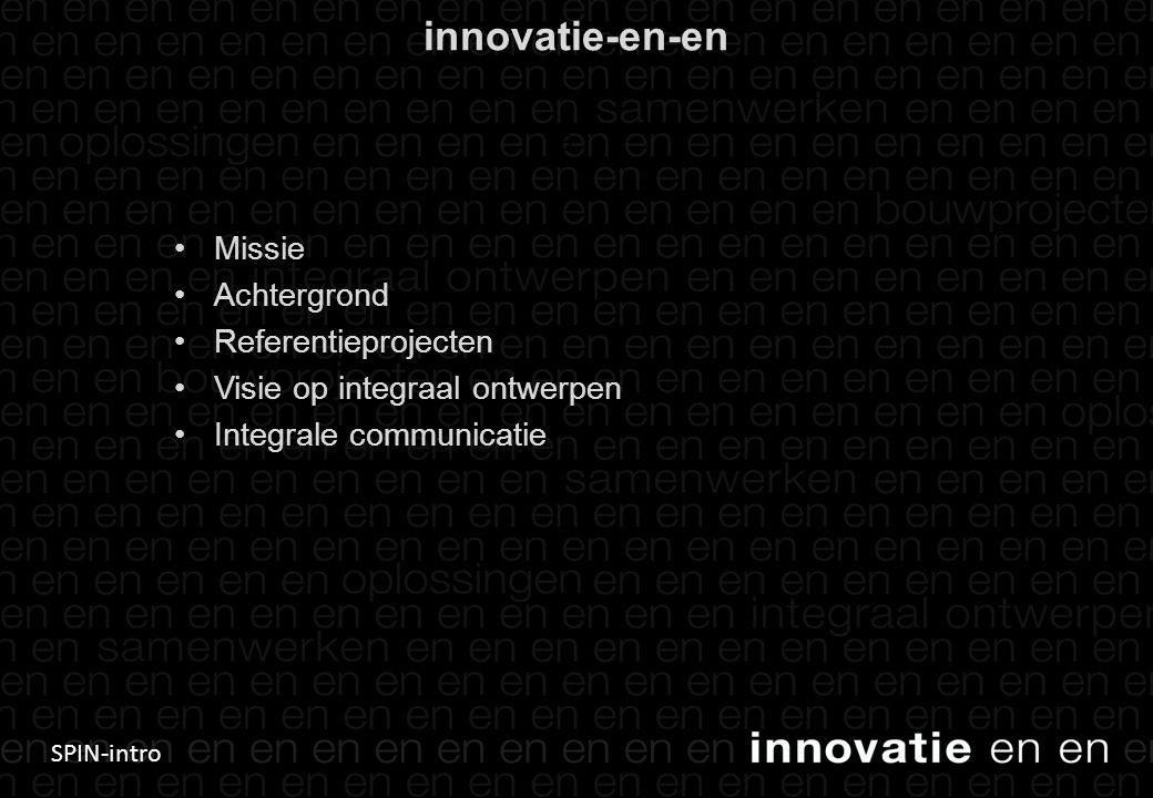 innovatie-en-en Missie Achtergrond Referentieprojecten