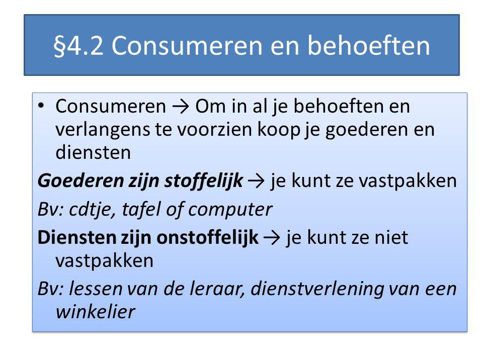 §4.2 Consumeren en behoeften