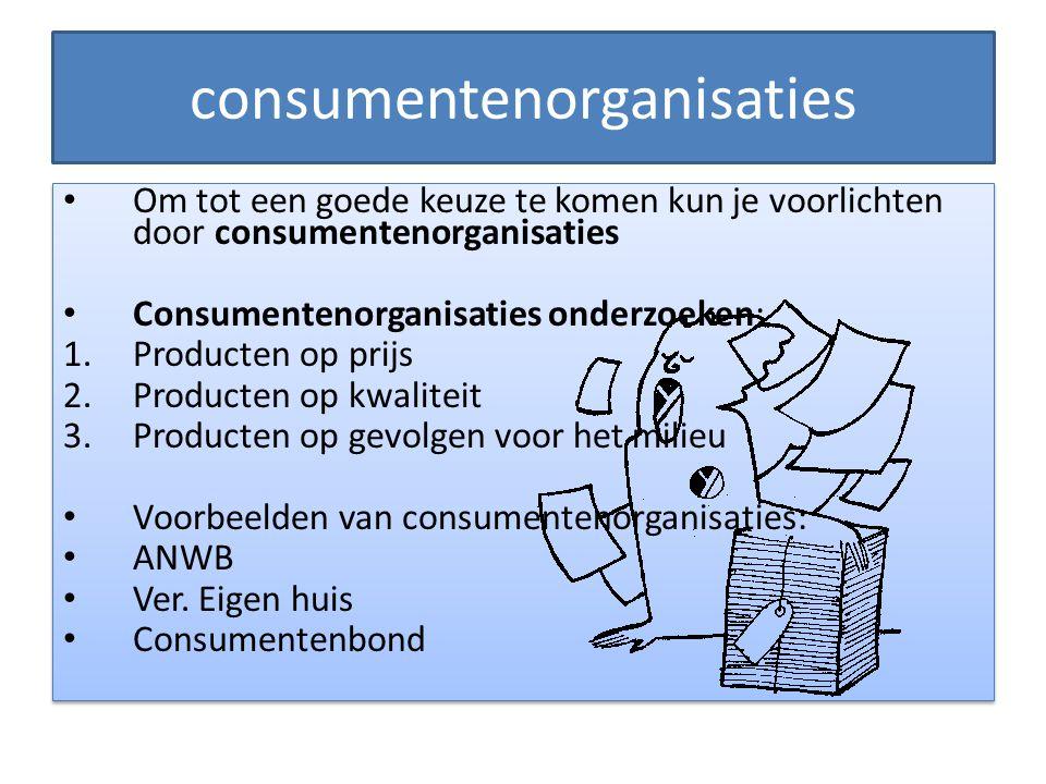 consumentenorganisaties