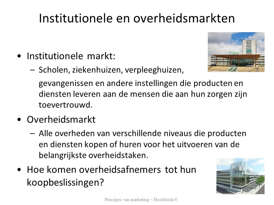 Institutionele en overheidsmarkten