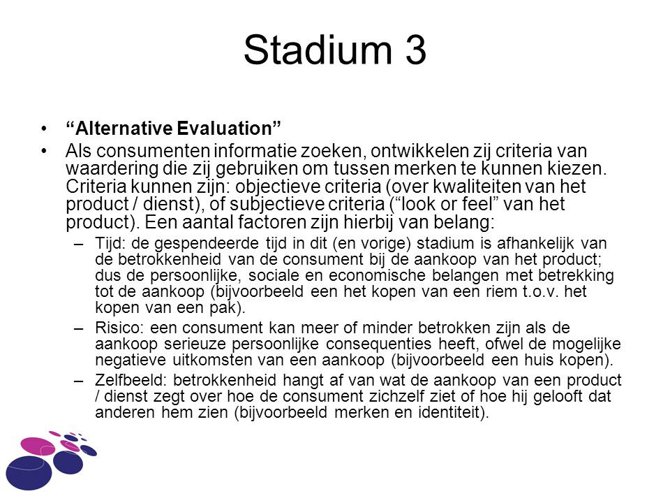 Stadium 3 Alternative Evaluation