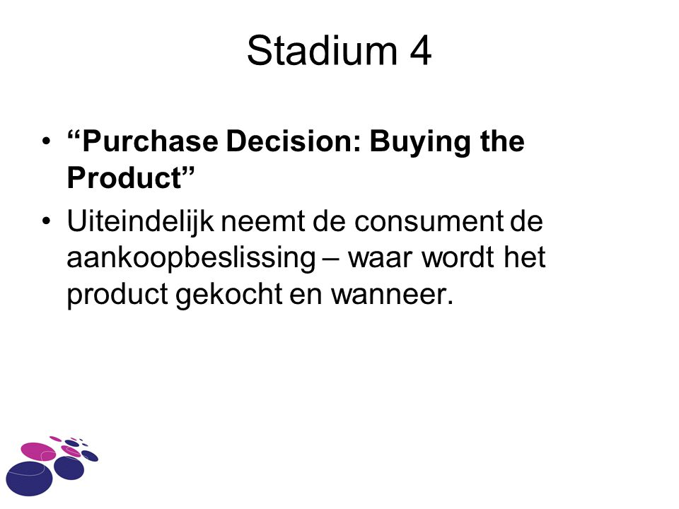 Stadium 4 Purchase Decision: Buying the Product