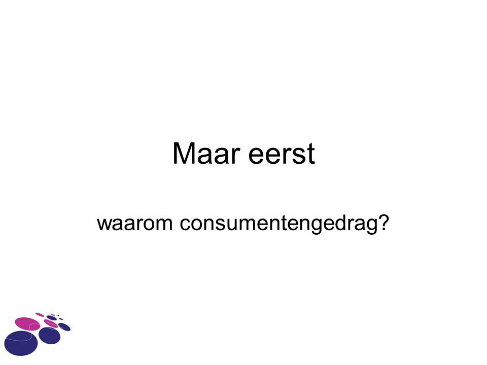 waarom consumentengedrag