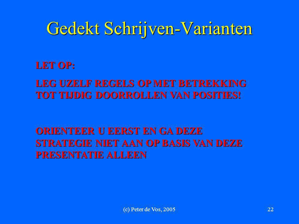 Gedekt Schrijven-Varianten