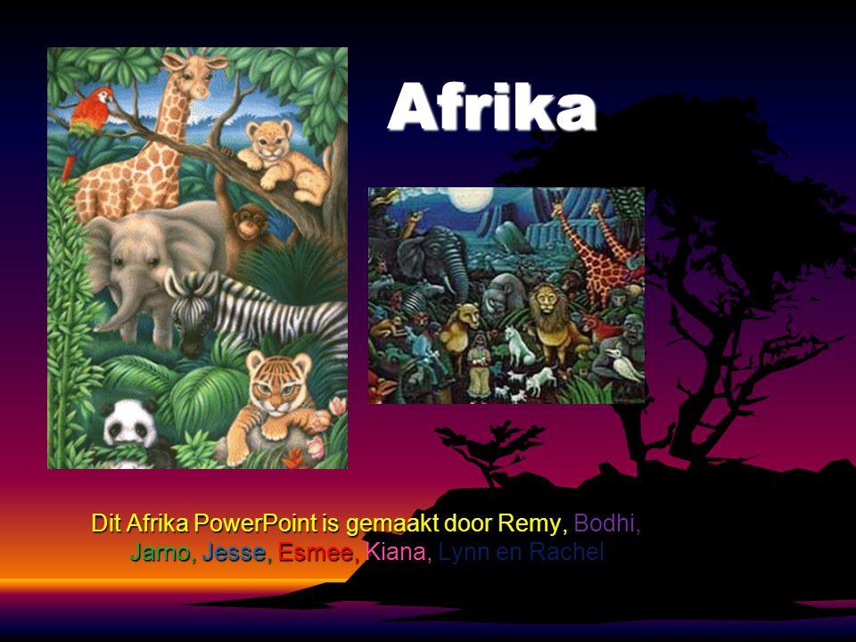 Afrika Dit Afrika PowerPoint is gemaakt door Remy, Bodhi, Jarno, Jesse, Esmee, Kiana, Lynn en Rachel.
