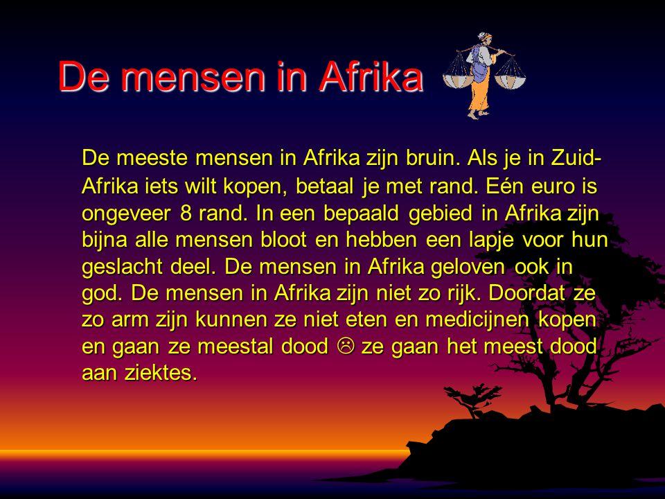 De mensen in Afrika