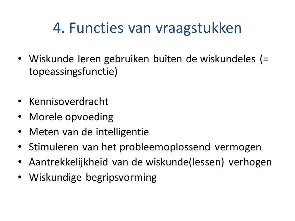 4. Functies van vraagstukken