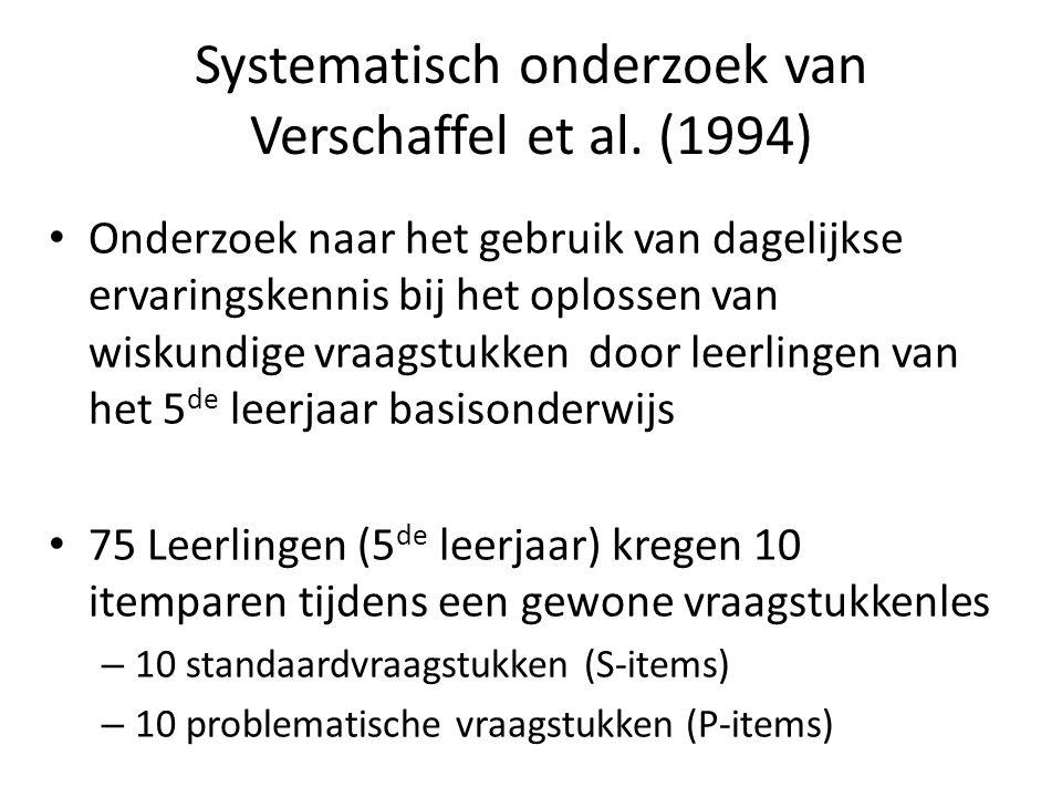 Systematisch onderzoek van Verschaffel et al. (1994)