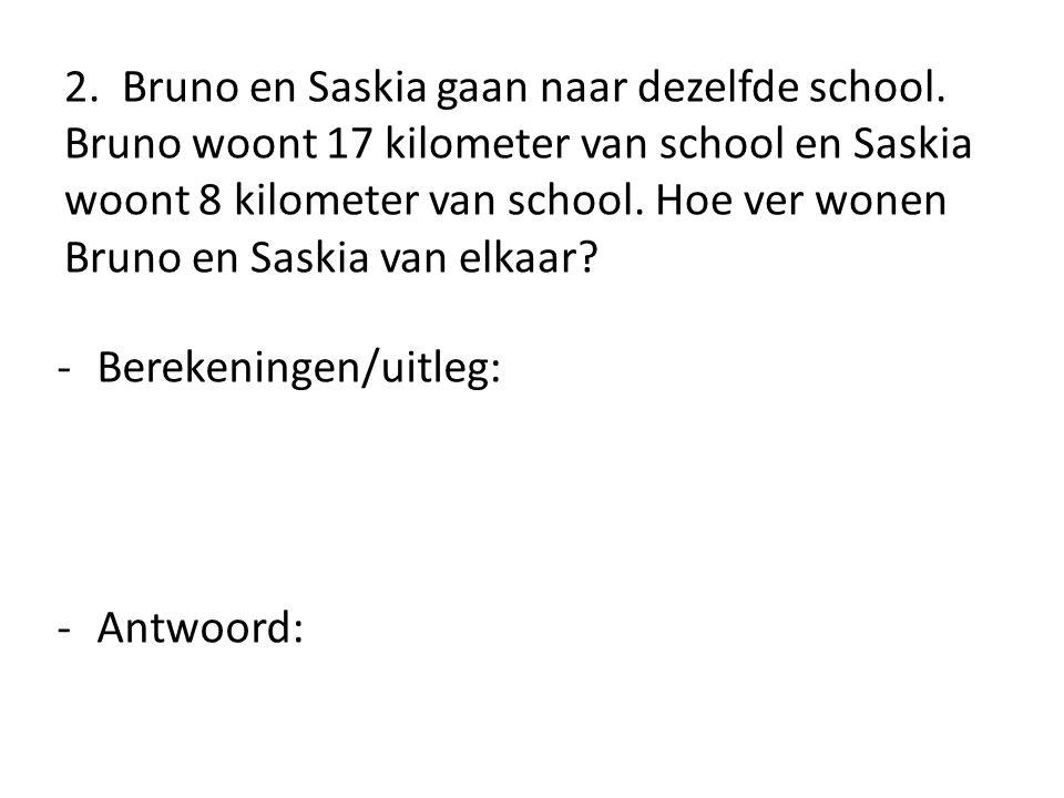 2. Bruno en Saskia gaan naar dezelfde school