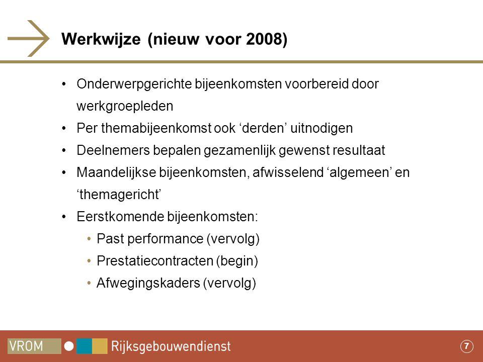 Werkwijze (nieuw voor 2008)
