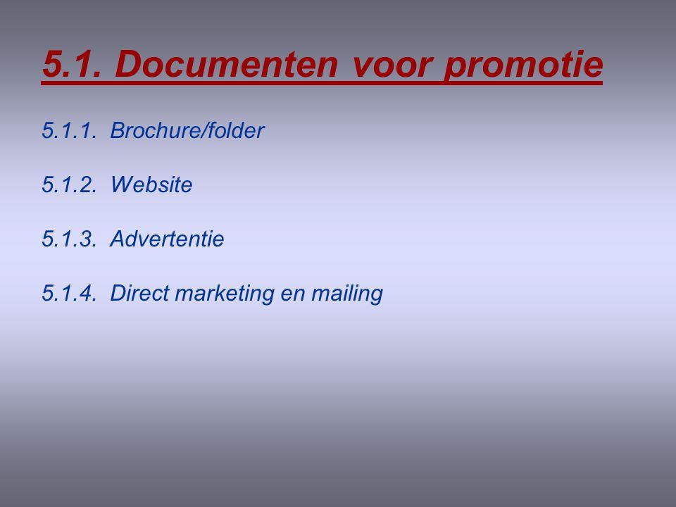 5.1. Documenten voor promotie