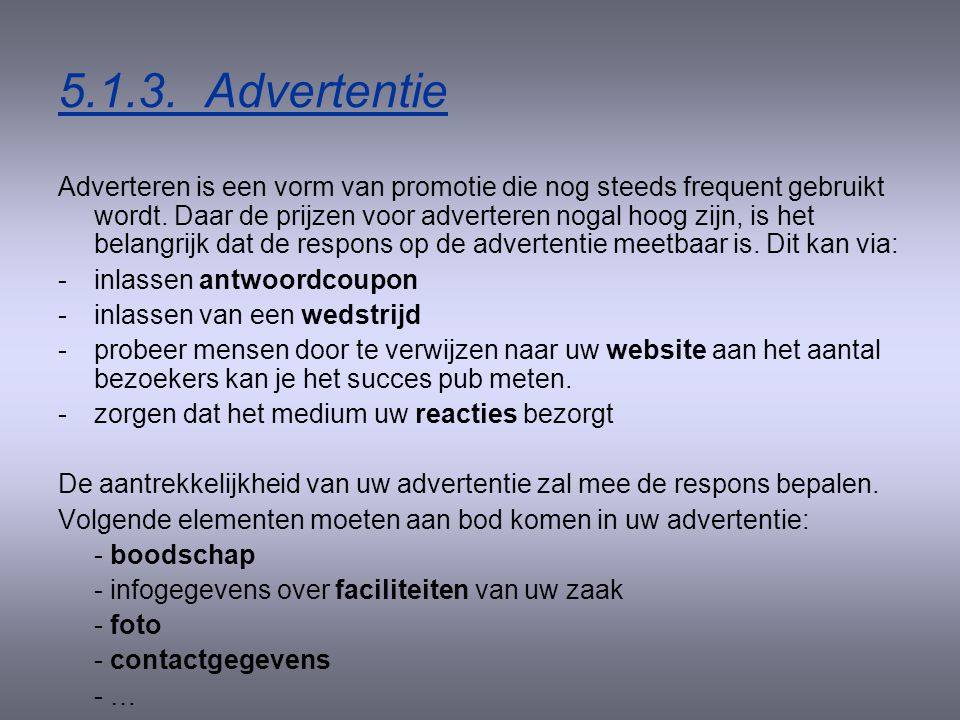 5.1.3. Advertentie