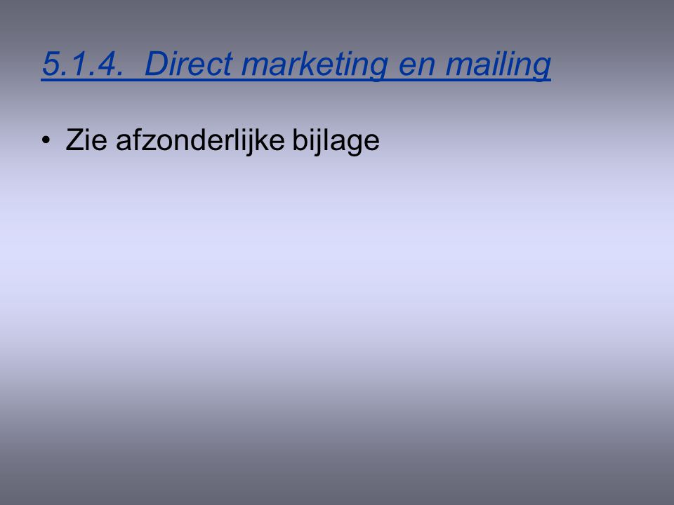Direct marketing en mailing