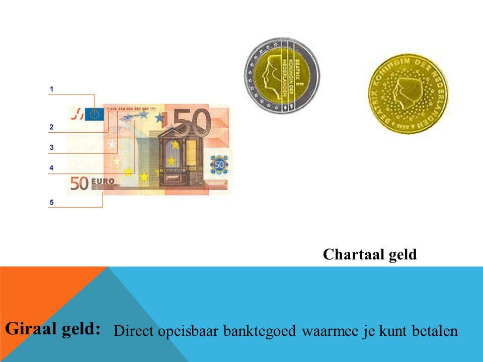 Giraal geld: Chartaal geld