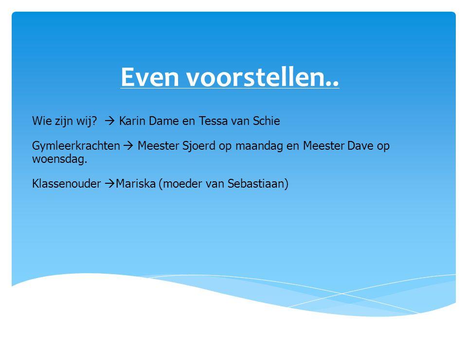 Even voorstellen.. Wie zijn wij  Karin Dame en Tessa van Schie