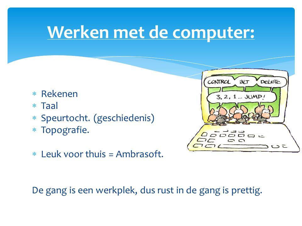 Werken met de computer: