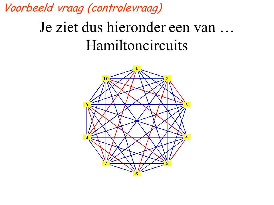 Je ziet dus hieronder een van … Hamiltoncircuits
