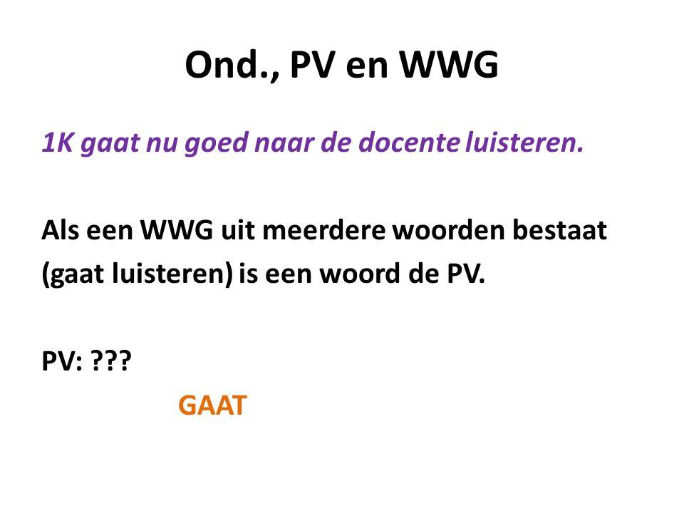Ond., PV en WWG