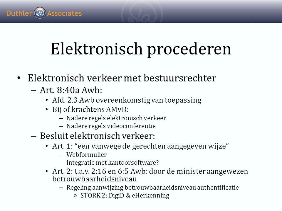 Elektronisch procederen