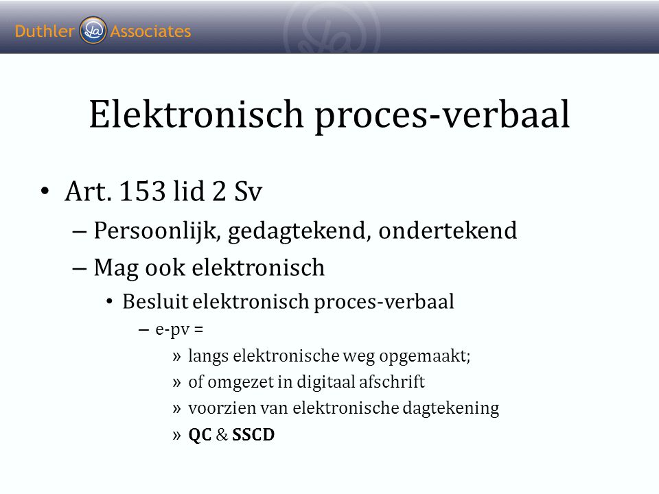 Elektronisch proces-verbaal