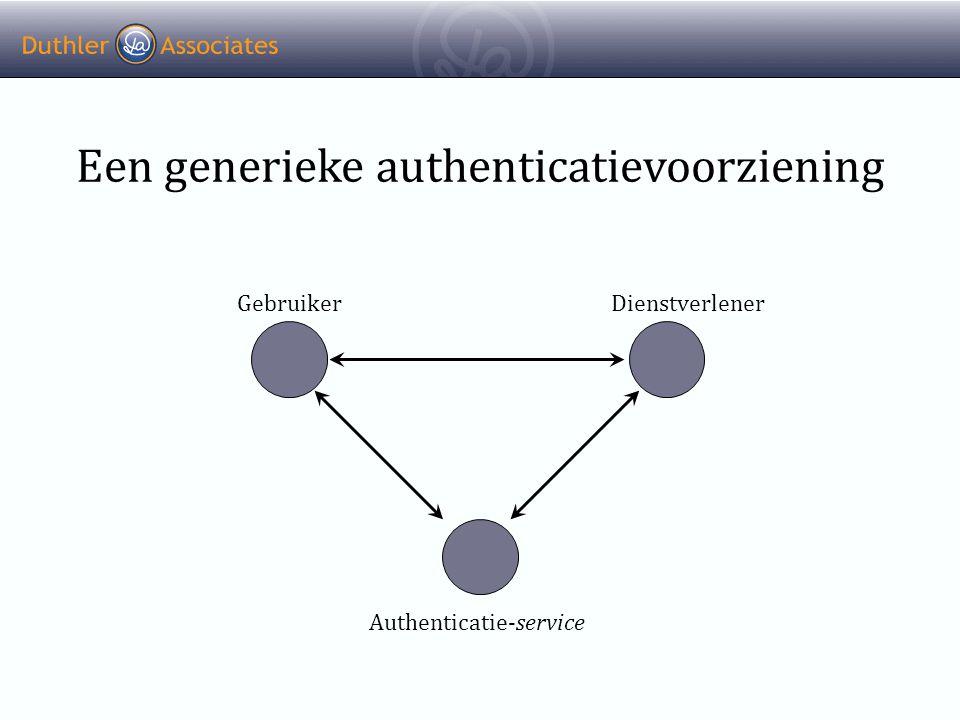 Een generieke authenticatievoorziening