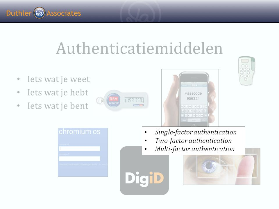 Authenticatiemiddelen