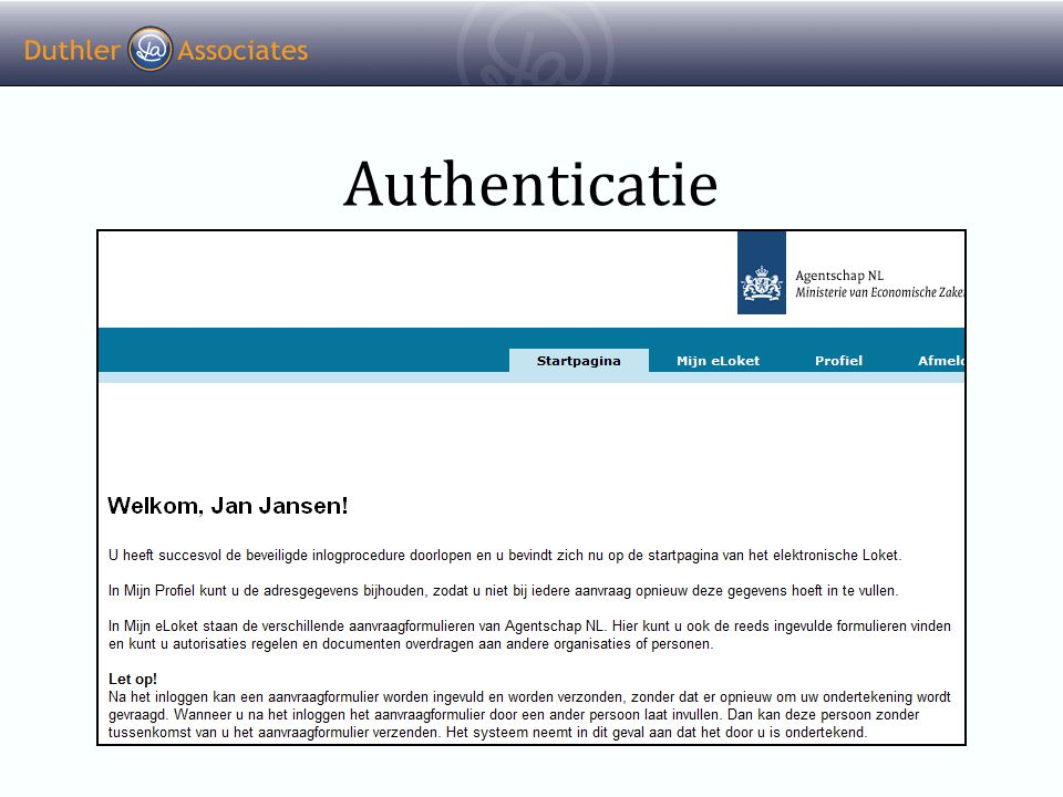 Authenticatie