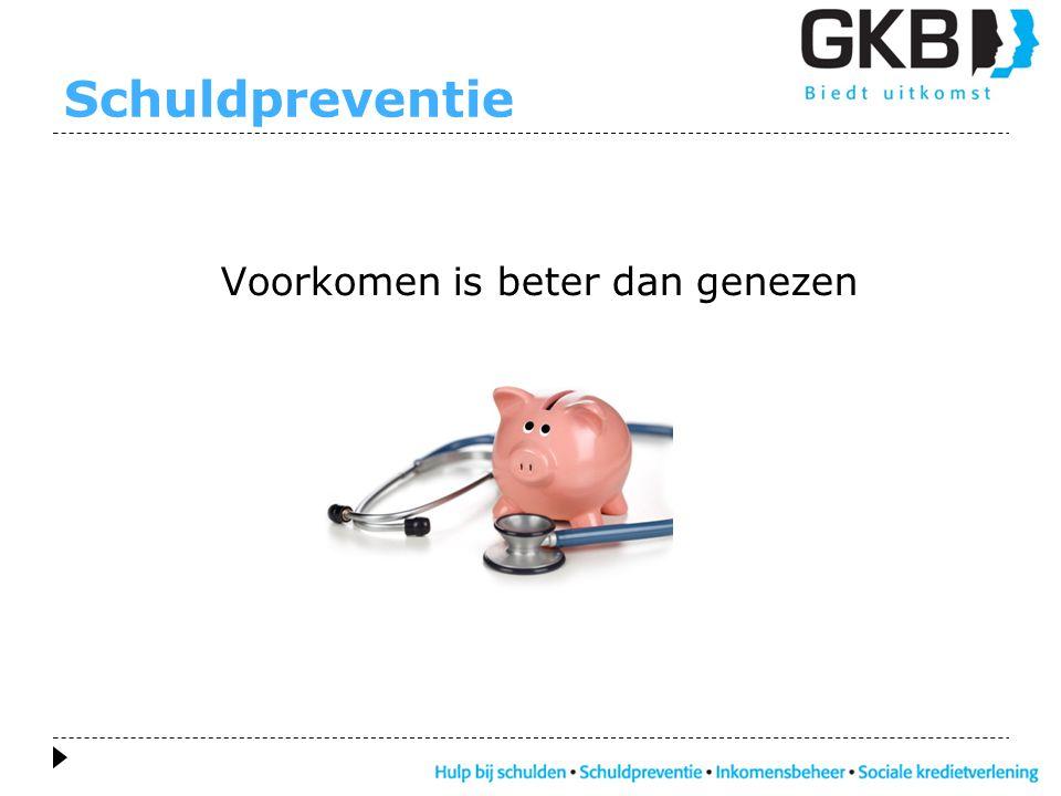 Schuldpreventie Voorkomen is beter dan genezen